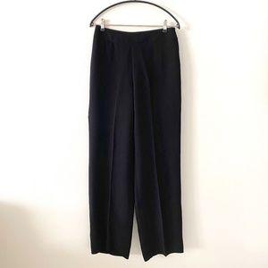 Giorgio Armani Black Classic Silk Dress Pants 44/8